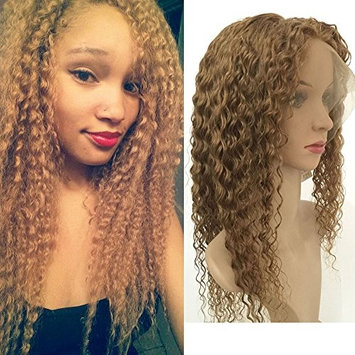 Fennell 150% Density 8A Brazilian Human Hair Blonde Deep Curly Lace Front Wigs For Women Full Lace Wigs Bleached Knots With Baby Hair