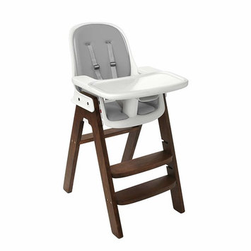 OXO Tot Sprout Chair with Tray Cover, Navy and Walnut [Gray/Walnut]
