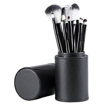Makeup Brush Set With Case Holder- Professional Makeup Brushes for Eye and Face Makeup
