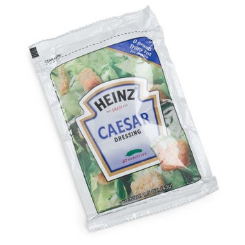 Heinz Ceasar Salad Dressing, Single Serve, 1.5 oz. sachet, Pack of 60