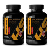 Maintain skin health - PURE GRAPE SEED EXTRACT 100 Mg - Grape seed pressed - 2 Bottles - 60 Capsules