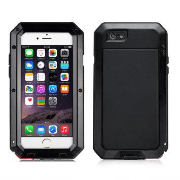 Agptek Shockproof Aluminum Glass Metal Case Cover for iPhone 7 Plus Black