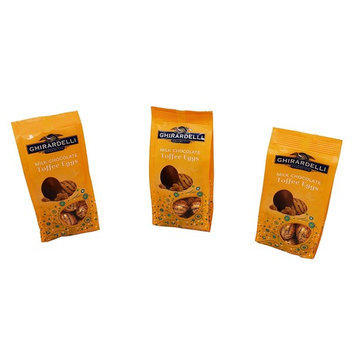 Easter Chocolate Candy - Ghirardelli Milk Chocolate Toffee Eggs, Pack of 3