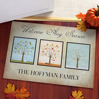 Personalized Welcome Any Season Doormat