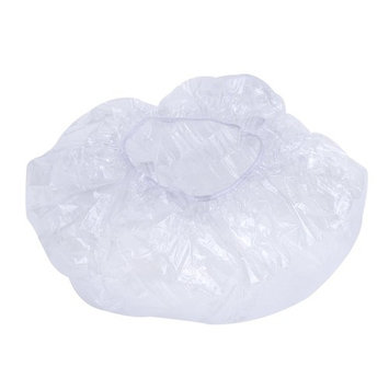 eBoot Disposable Shower Caps Plastic Bath Caps for Spa, Home Use, Hotel and Hair Salon, 50 Pieces Individually Wrapped (Clear)