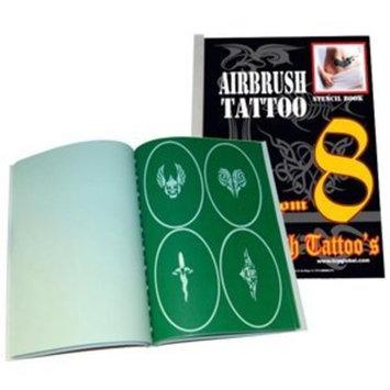 Unique Airbrush Stencils 100 Temporary Tattoos Designs Design Book 8 Profession Popular Hot Stylish Style Design Pattern