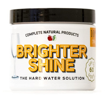 Complete Natural Products Brighter Shine - 60 Uses, Natural Lemon Dishwasher Additive & Cleaner, Hard Water Spots Remover