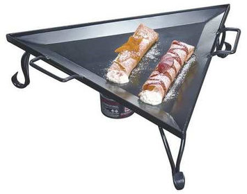 American Metalcraft GST77 - Triangular Wrought Iron Griddle w/ Stand