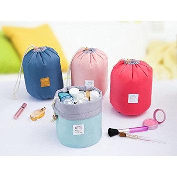 AccMart Makeup Bag|Travel Kit Organizer|Bathroom Storage Cosmetic Bag|Toiletry Bag|Make up Pouches|Barrel Shaped Cosmetic Bag|Drawstring Wash Bag|Travel Wash Toiletry Beauty Organizer Pouch(Pink)