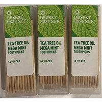 Desert Essence Tea Tree Oil Mega Mint Toothpicks - 3 Pack - 55 Pieces Each