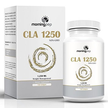 CLA 1250 mg 180 Count Highest Potency 80% Conjugated Linoleic Acid Weight Management Diet Supplement By Morning Pep