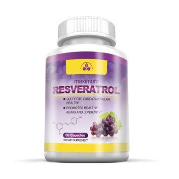 Totally Products Super Resveratrol 1200mg Maximum Strength (60 Veggie Capsules)