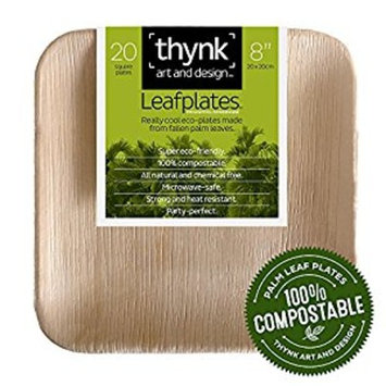 Thynk Leafplates - Palm Leaf Plates - 5 Inch Mini Round Bowl - All Natural 100% Compostable - Perfect Disposable Party Plates - 20 Count []