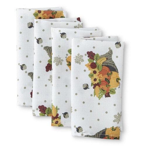 Be Thankful 4-Pack Cloth Napkins - Cornucopia