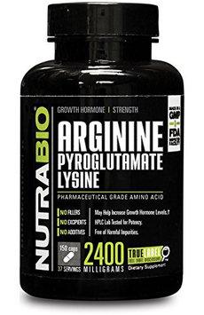 Nutra Bio NutraBio Arginine Pyroglutamate Lysine Vegetable Capsules, 150 Ct