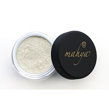"Multi-Purpose Mineral Shimmering Eye Shadow ""Silky Silver"" 0.09 Ounce by Mahya Cosmetics"