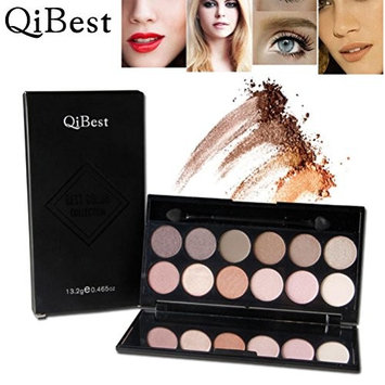 OVERMAL 2016 Qibest Cosmetic Makeup Blusher 12 Colors Concealer Eye shadow