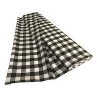 LA Linen CheckBolt-10Yrd-BlackK24 10 Yards Gingham Checkered Flat Fold White & Black