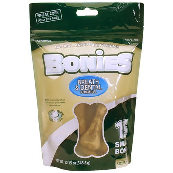 Green Dog BONIES Natural Dental Bones Multi-Pack SMALL (15 Bones / 12.15 oz)