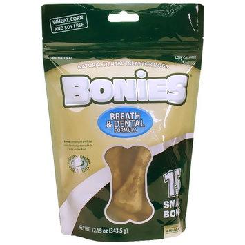Green Dog BONIES Natural Dental Bones Multi-Pack SMALL (15 Bones / 12.15 oz)