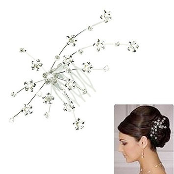 Urberry Fashion Silver Personality Gem Crystal Wedding Bridal Princess Jewelry Crown Hair Jewelry Accessories