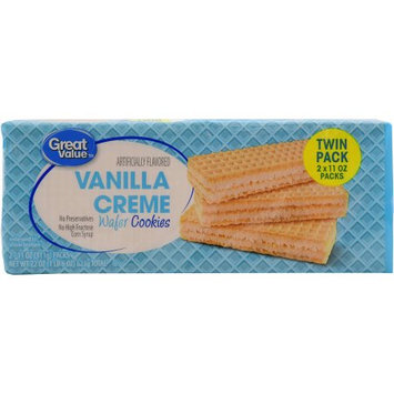 Great Value Vanilla Creme Wafer Cookies