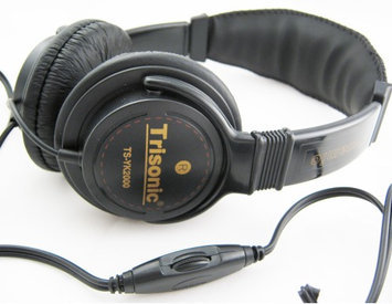 Trisonic PROFESSIONAL DIGITAL STEREO HEADPHONES STUDIO LEATHER!