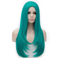 Amback Straight Long Wig for Women Ombre Party Cosplay Wigs Hair Cap 75CM
