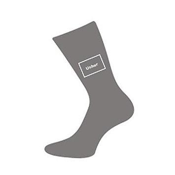 Ash Grey Usher Woven Wedding Socks Adult size UK 6-12 Euro 39-46 (X6092)