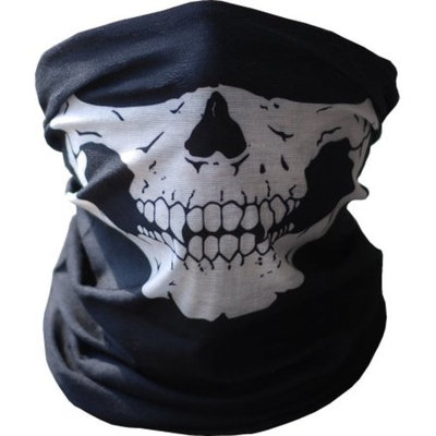 Seamless Skull Face Mask - Skeleton Tube Face Mask - Motorcycle Snowboarding Outdoor Face Protection Bandana Beanie Scarf Headband