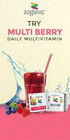 Nutrinoche Zoganic fruit Zip MultiVitamin Supplement Drink Mix for daily Support -All Organic vitamins & Minirals & Supperfood Straight from the Fruit with multi Berry flavor. Sweetened