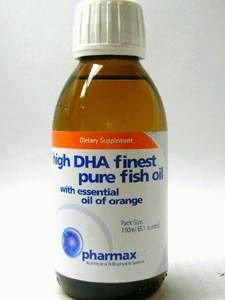 Pharmax High DHA Fish Oil with Essential Oil of Orange, 150 mL