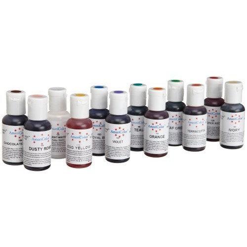 AmeriColor #2 Color Kit, Soft Gel Paste Food Color, 12 Pack