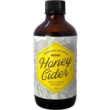 Honey Cider - Daily Apple Cider Vinegar and Honey Tonic - Fight Allergies and Colds Naturally - Made With Organic Ingredients - A Healthy Elixir Made By Beekeepers (8 oz) (8 oz Regular (Not Spicy))