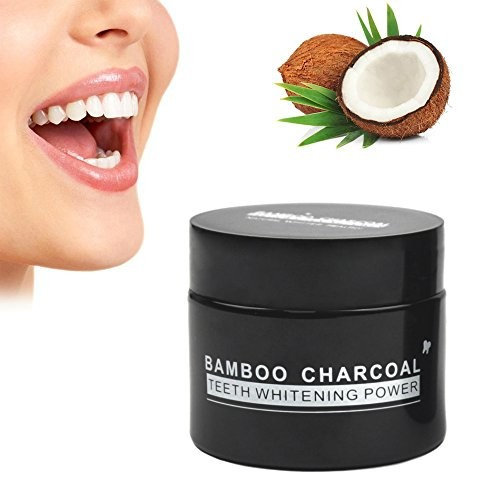 MIXSight Teeth Whitening Activated Charcoal Powder, Smiles Teeth Whitening Powder With Coconut Charcoal, Eliminated Stains And Freshens Breath (Mint)