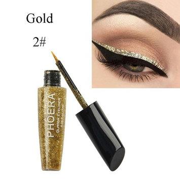 Jujunx 10 Color Makeup Metallic Shiny Eyes Eyeshadow Waterproof Glitter Liquid Eyeliner Cosmetic (B)