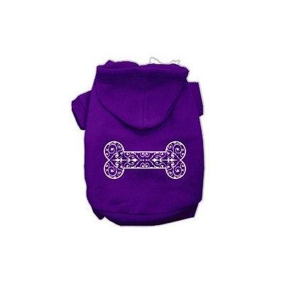 Mirage Pet Products Henna Bone Screen Print Pet Hoodies Purple Size XXL (18)