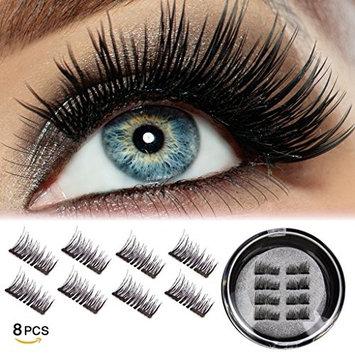 Half Eye Magnetic Eyelashes Fake False lashes Reusable Magnet Eyelashes Natural Looking (8 pcs)