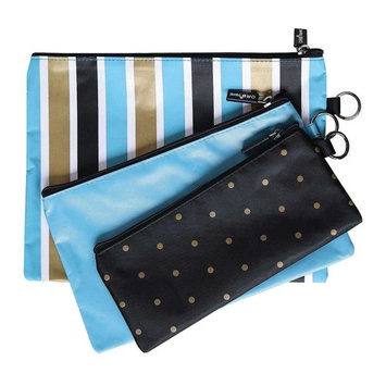 Women's Set of Three Small Travel Bags - Cosmetics Toiletries Accessories