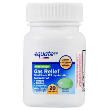 Wal-mart Stores, Inc. Equate Extra Strength Gas Relief Softgels, 20 Count