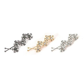 6 Pieces Metal Flower Hair Barrettes Bobby Pin Hair Clips Hairpin Clamps Accessories