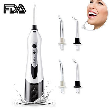 Hot Sale Ultrasonic Dental Water Flosser Cordless Oral Irrigator - Professional Rechargable Portable Dental Water Flosser With 3 Jet Tips For Braces And Teeth Whitening - With Anti Leakage Design