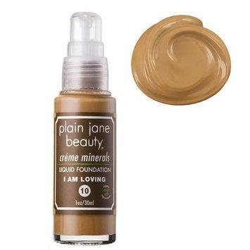Plain Jane Beauty 232014 I Am Loving 10 Creme Minerals Liquid Foundation