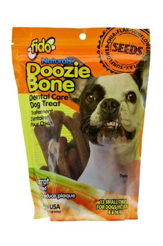 Fido Naturals Doozie Bone - Dental Care Dog Treat, Carrot Flavored, 13ct (Small Treats)