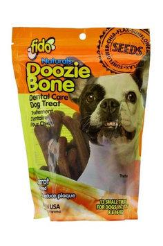 Fido Naturals Doozie Bone - Dental Care Dog Treat, Carrot Flavored, 13ct (Small Treats)