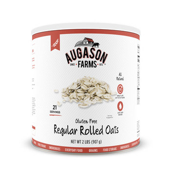 Augason Farms Gluten Free Regular Rolled Oats 2 lbs No. 10 Can