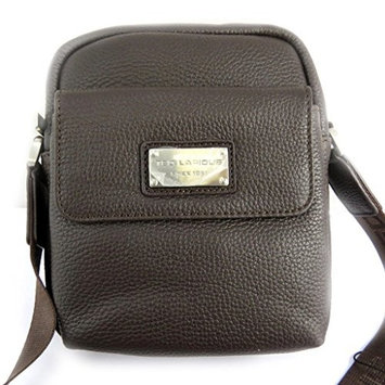 Leather bag 'Ted Lapidus' brown (19x21x5.5 cm (0.00''x8.27''x2.17'') ).
