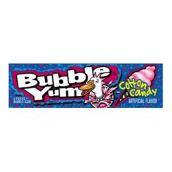 Hershey Chocolates, Bubble Yum Gum Single Cotton Candy - 5 Sticks X 18 Ea