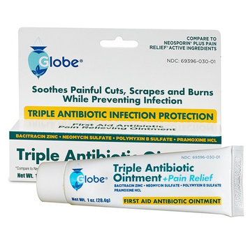 Triple Antibiotic + Pain Relief Dual Action Ointment, 1 Oz (1 PACK)