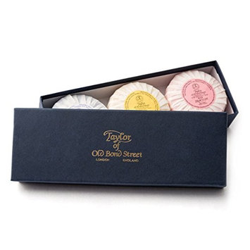 Taylor of Old Bond Street Mixed Soap Gift Box of 3 Soaps 100 g ea bar